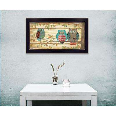 """11 in. x 20 in. """"Three Wise Owls"""" by Annie LaPoint, Printed Framed Wall Art"""