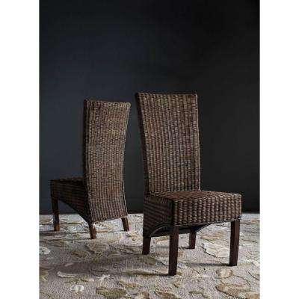Siesta Honey Black Wicker Side Chair (Set of 2)