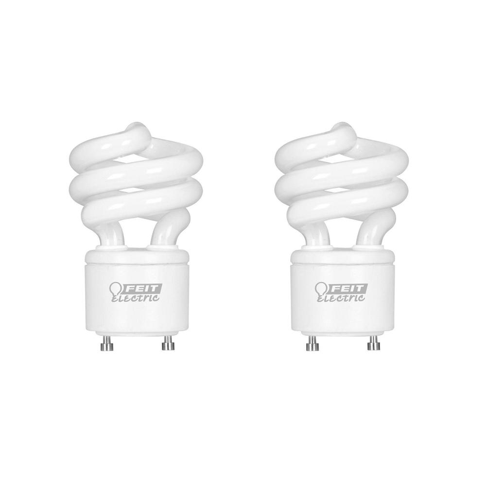 60w Equivalent Soft White 2700k Spiral Gu24 Cfl Light Bulb 2 Pack