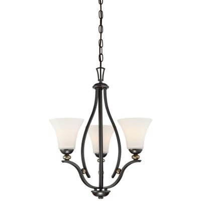 Shadowglen 3-Light Lathan Bronze Chandelier