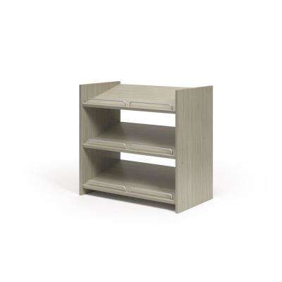25.125 in. W x 14 in. D x 25 in. H Rustic Grey Stackable Shoe Storage