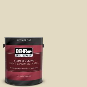 Behr Ultra 1 Gal 770c 2 Belvedere Cream Flat Exterior Paint And Primer In One 485401 The Home Depot