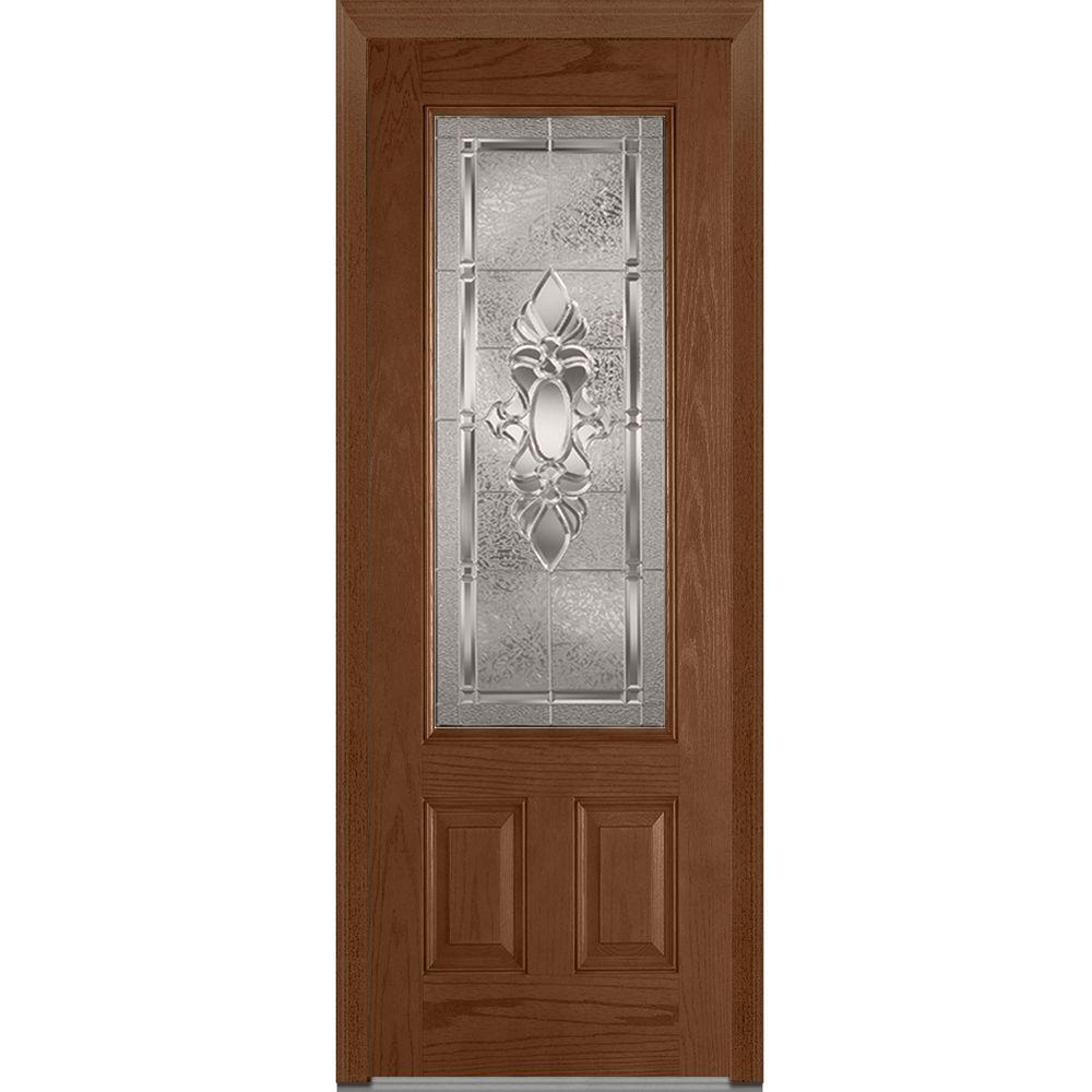 Mmi door 36 in x 96 in heirloom master left hand 3 4 for 100 doors 2 door 36