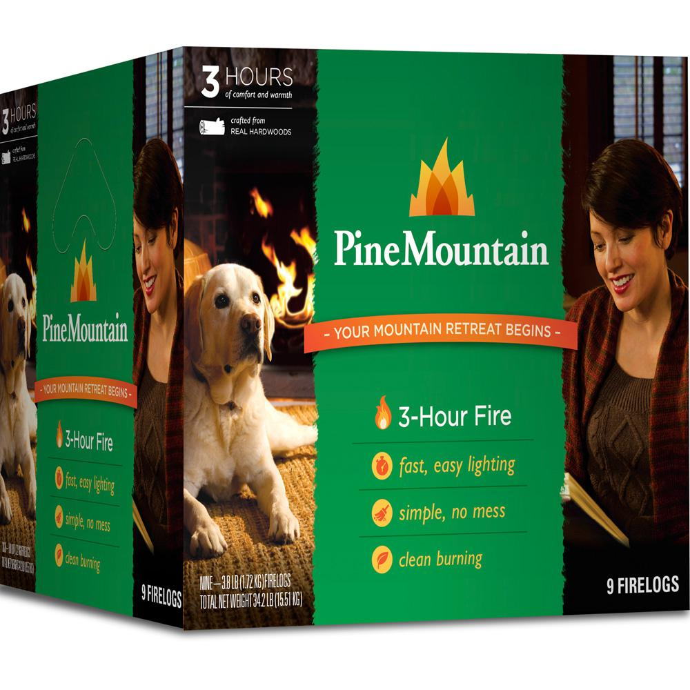 Pine Mountain 3 Hour Firelogs (Case of 9)