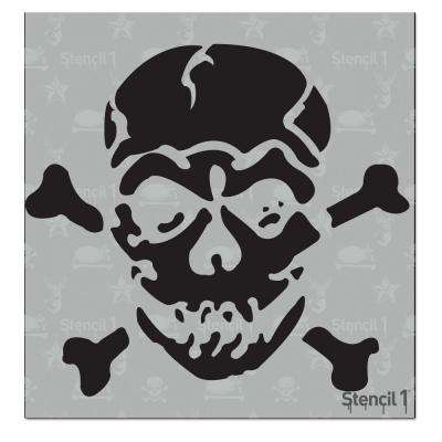 Jolly Roger Small Stencil