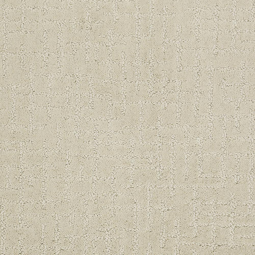 Carpet Sample - Latice - Color Bone China Pattern 8 in. x 8 in.