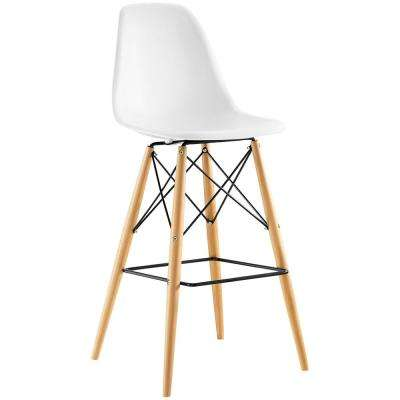Pyramid White Bar Stool