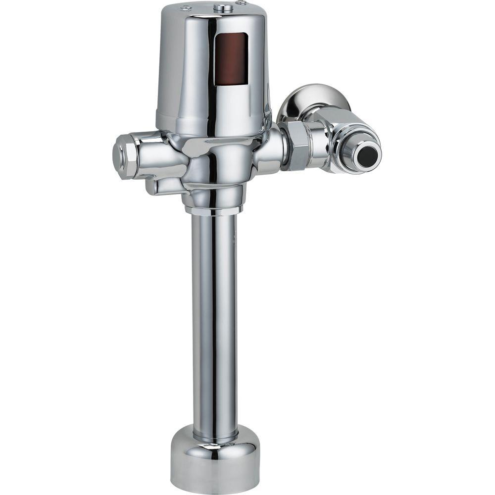 Delta Exposed Battery Operated Flush Valve In Chrome