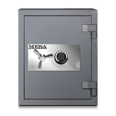 3.0 cu. ft. All Steel High Security Burglary Fire Safe with Electronic Lock, Silver