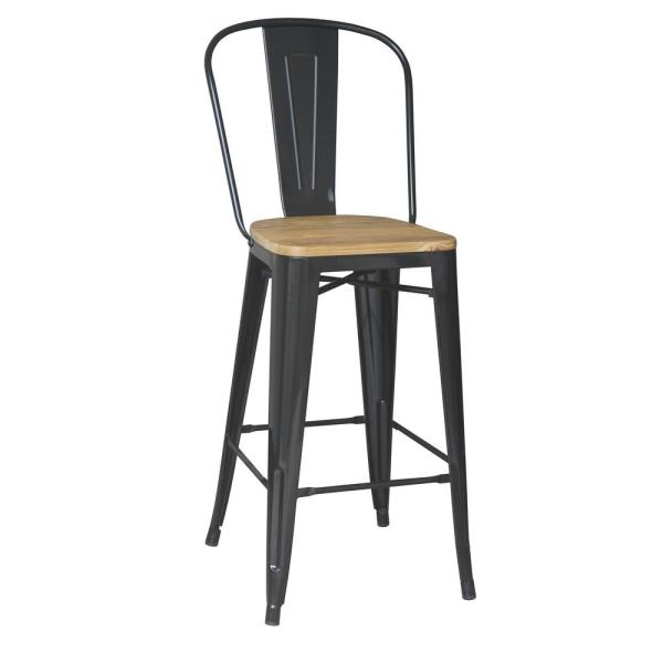 29 in. Black Backed Bar Stool (Set of 2)