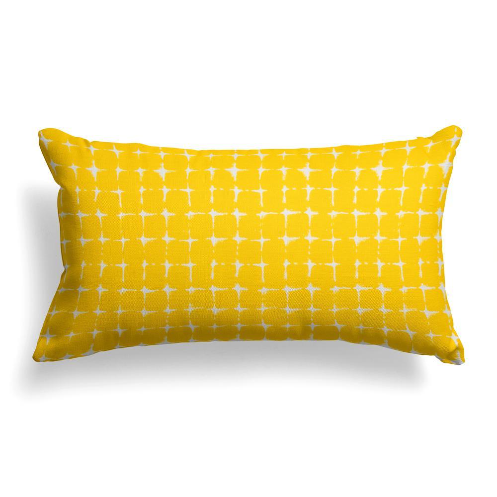 Sea Island Yellow Rectangular Lumbar Outdoor Pillow