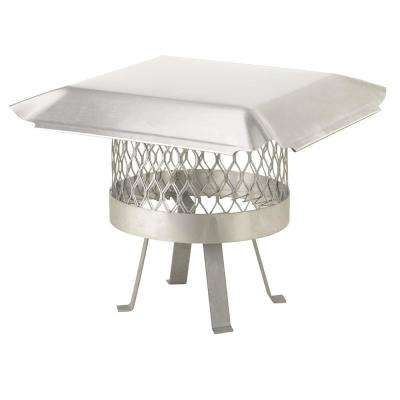 10 in. Round Slip-In Welded Leg Single Flue Chimney Cap in Stainless Steel