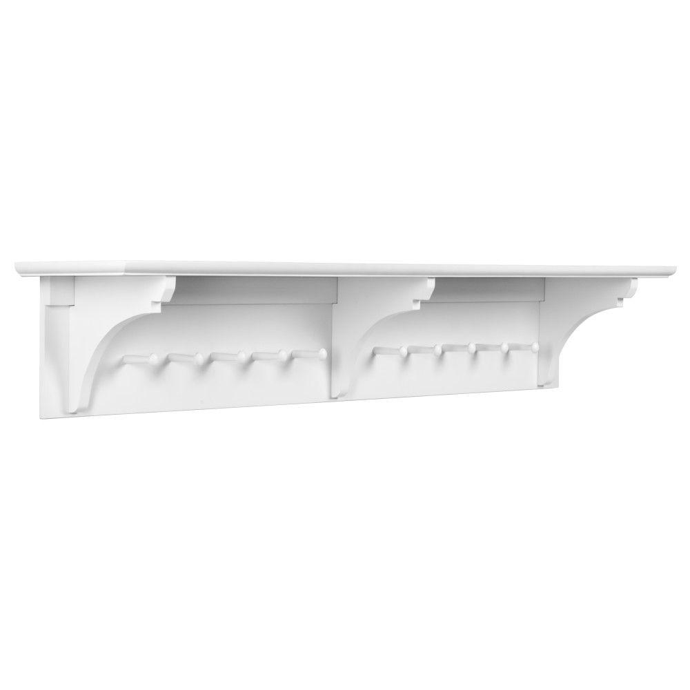 Martha Stewart Living Solutions Picket Fence Wall Mounted Coat Rack
