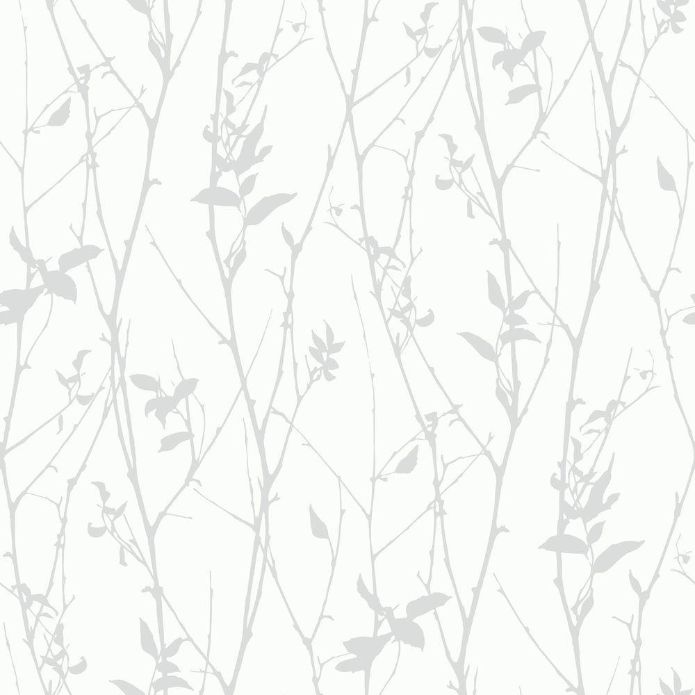 Paloma Grey Spring Tree Wallpaper Sample