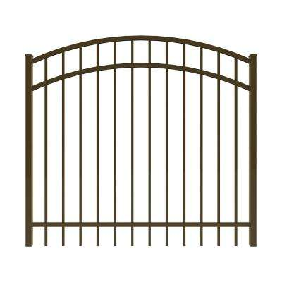 Vinings 5 ft. W x 4 ft. H Bronze Aluminum Arched Pre-Assembled Fence Gate