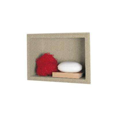 4-1/8 in. x 7-1/2 in. x 10-3/4 in. Recessed Accessory Shelf in Prairie