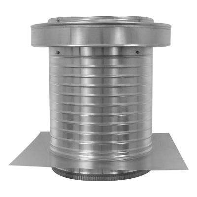 12 in. Dia. Aluminum Keepa Ducted Vent with Tail Pipe in Mill Finish