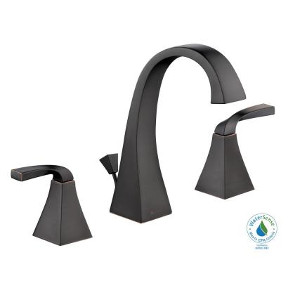 Leary Curve 8 in. Widespread 2-Handle High-Arc Bathroom Faucet in Bronze