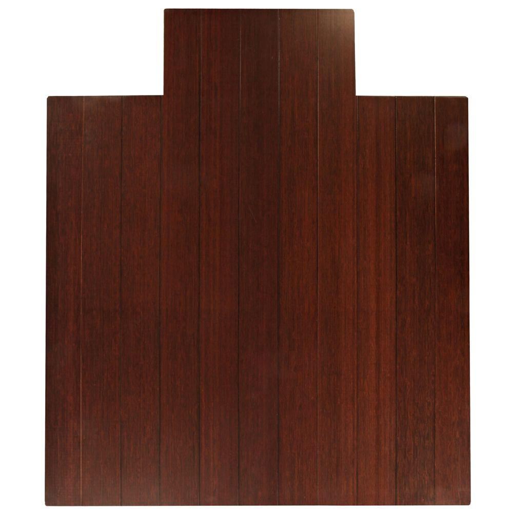 Deluxe Dark Brown Mahogany 44 in. x 52 in. Bamboo Roll-Up