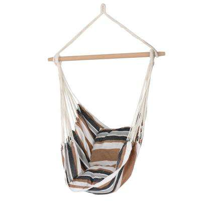 3.5 ft. Fabric Hanging Hammock Swing with Two Cushions in Calming Desert