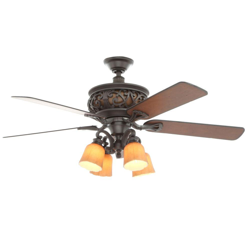 Hampton Bay Ponte Vecchio 54 in. Natural Iron Ceiling Fan