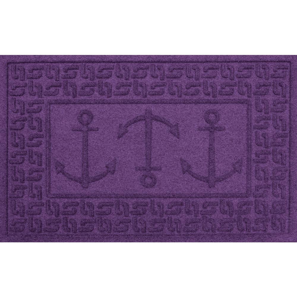 Purple 24 in. x 36 in. Ahoy! Polypropylene Door Mat