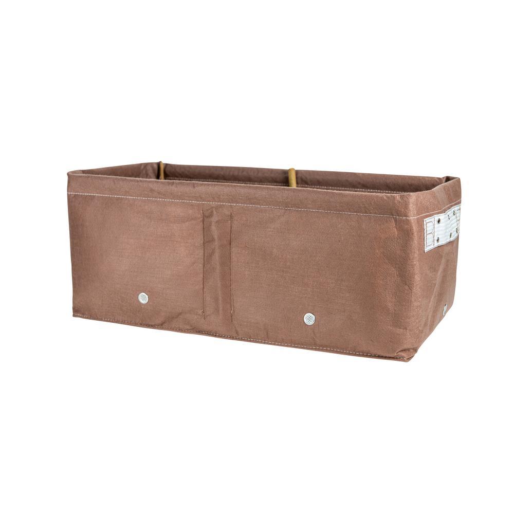 12 Gal. Chocolate Fabric Raised Bed Planter Bag