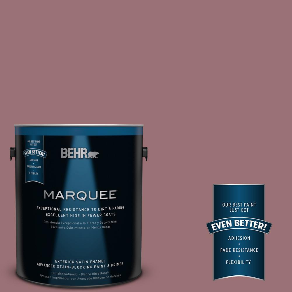 BEHR MARQUEE 1-gal. #QE-05 Regal Rose Satin Enamel Exterior Paint