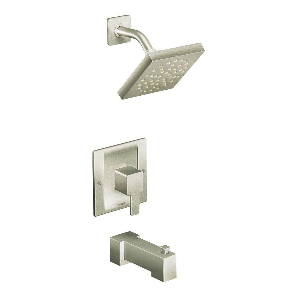 moen three handle shower faucet. MOEN 90 Degree Moentrol Single Handle 1 Spray Tub and Shower Faucet Trim