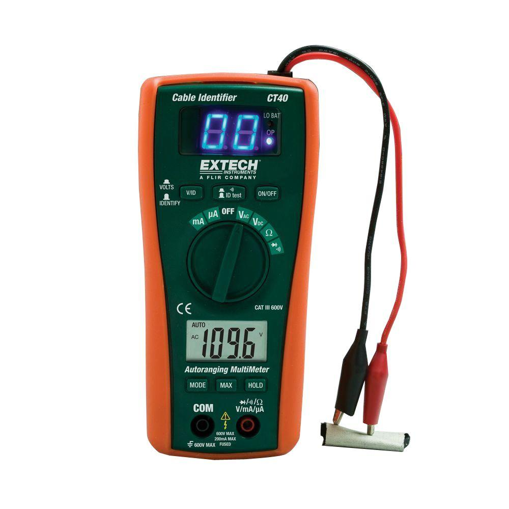 Home Voltage Tester : Extech instruments cable identifier tester kit ct the
