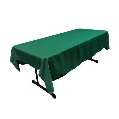 Polyester Poplin 60 in. x 84 in. Teal Rectangular Tablecloth