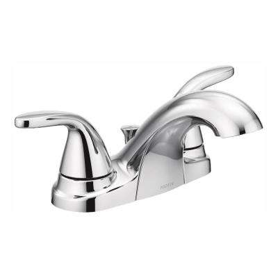 Adler 4 in. Centerset 2-Handle Low-Arc Bathroom Faucet in Chrome