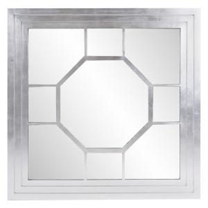 Palmer 48 in. x 48 in. Modern Square Framed Wall Mirror