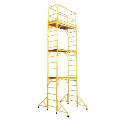 18 ft. x 6 ft. x 29 in. Rolling Drywall Scaffold Unit 1000 lb. Load Capacity