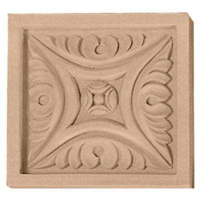 5-1/8 in. x 7/8 in. x 5-1/8 in. Unfinished Wood Cherry Large Middlesbrough Rosette