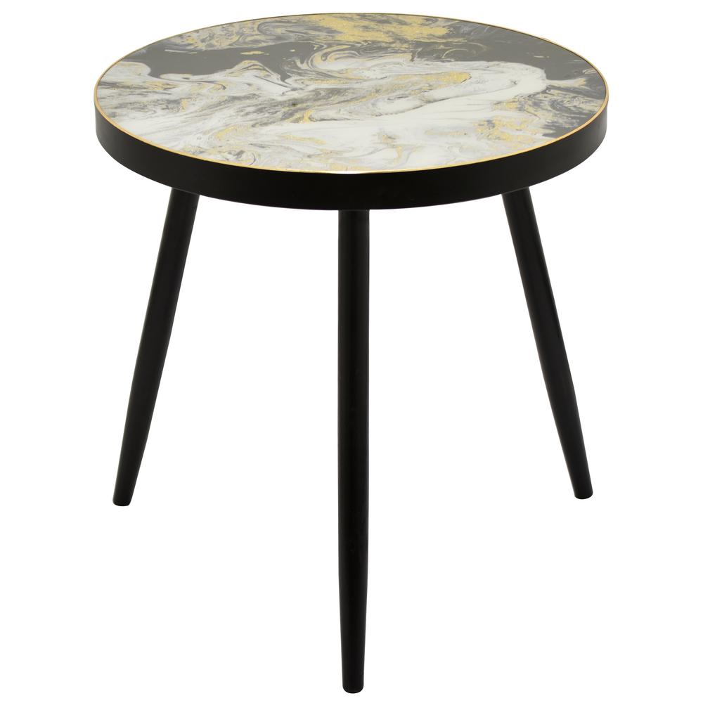 best authentic 6f670 d54b6 24 in. Black Wood Decorative Table