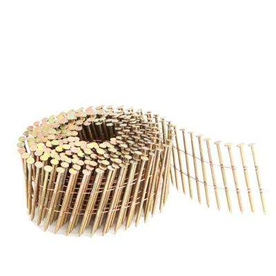 2 in. x 0.092 in. 15-Degree Wire Collated Galvanized Ring Shank Coil Siding Nails (3600-Count)