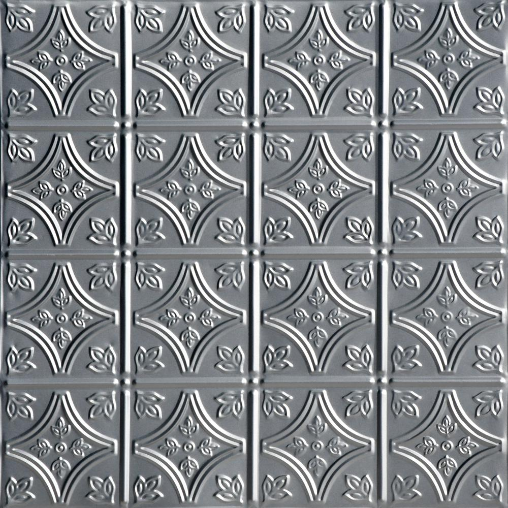 From Plain To Beautiful In Hours Tiny Tiptoe 2 Ft X 2 Ft Nail Up Lacquered Tin Ceiling Tiles Surface Mount 48 Sq Ft Case Sk209 Laq 24x24 N 12 The Home Depot