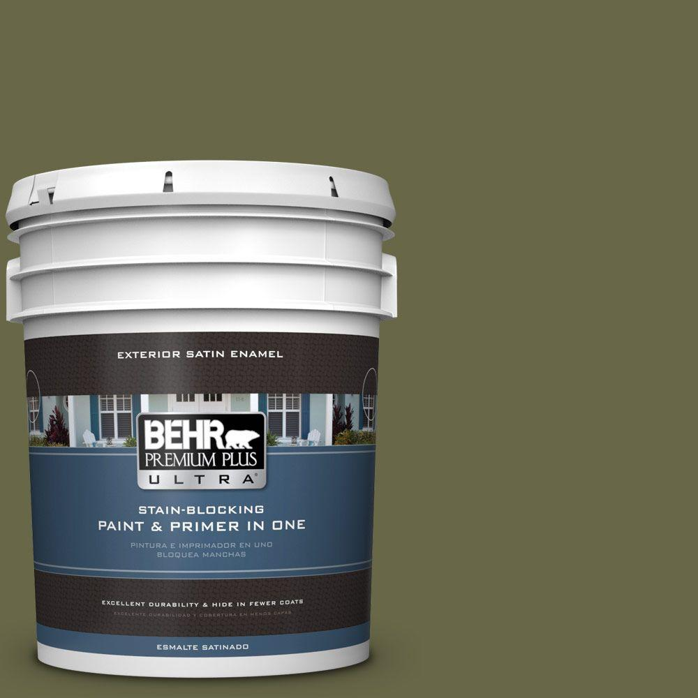 BEHR Premium Plus Ultra 5-gal. #PPU9-24 Amazon Jungle Satin Enamel Exterior Paint
