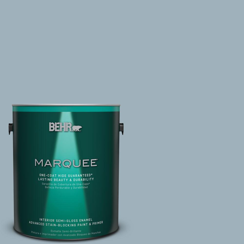 BEHR MARQUEE 1 gal. #MQ5-59 Ovation One-Coat Hide Semi-Gloss Enamel Interior Paint