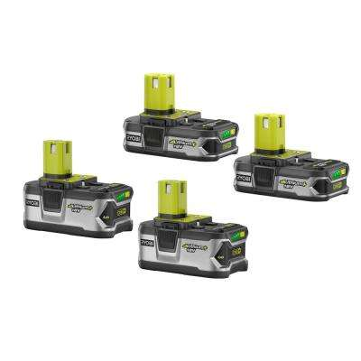 18-Volt ONE+ Lithium-Ion LITHIUM+ High Capacity Battery Kit with (2) 4.0 Ah Batteries and (2) 1.5 Ah Batteries