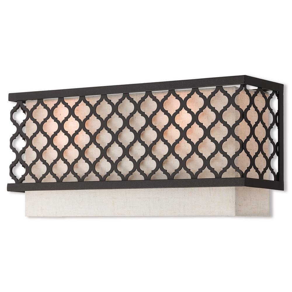 Livex Lighting Arabesque 2-Light English Bronze ADA Wall Sconce
