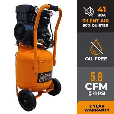 10 Gal. 2 HP Portable Electric-Powered Vertical Silent Air Compressor
