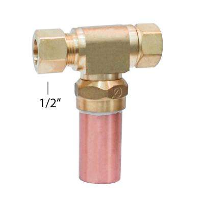 1/2 in. x 1/2 in. Water Hammer Arrestor Compression Tee