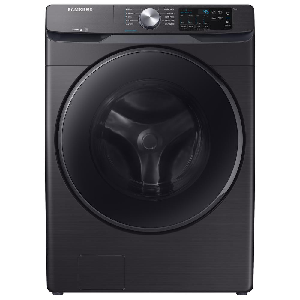 Samsung 4.5 cu. ft. High-Efficiency Black Stainless Front Load Washing Machine with Steam, ENERGY STAR