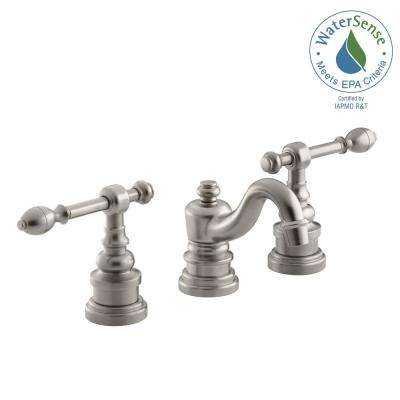 IV Georges Brass 8 in. Widespread 2-Handle Low-Arc Bathroom Faucet in Vibrant Brushed Nickel