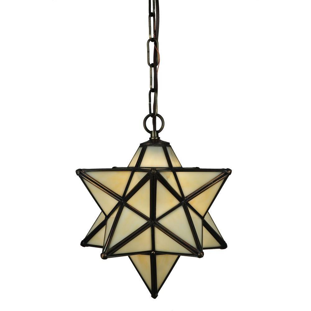 Illumine 1 Light Moravian Star Beige Pendant