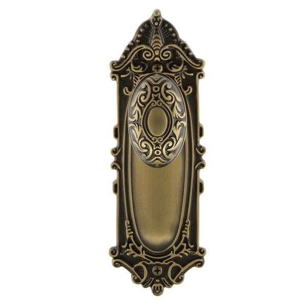 Nostalgic Warehouse Victorian Plate 2 3 4 In Backset Antique Brass Privacy Bed Bath Victorian Door Knob 717954 The Home Depot