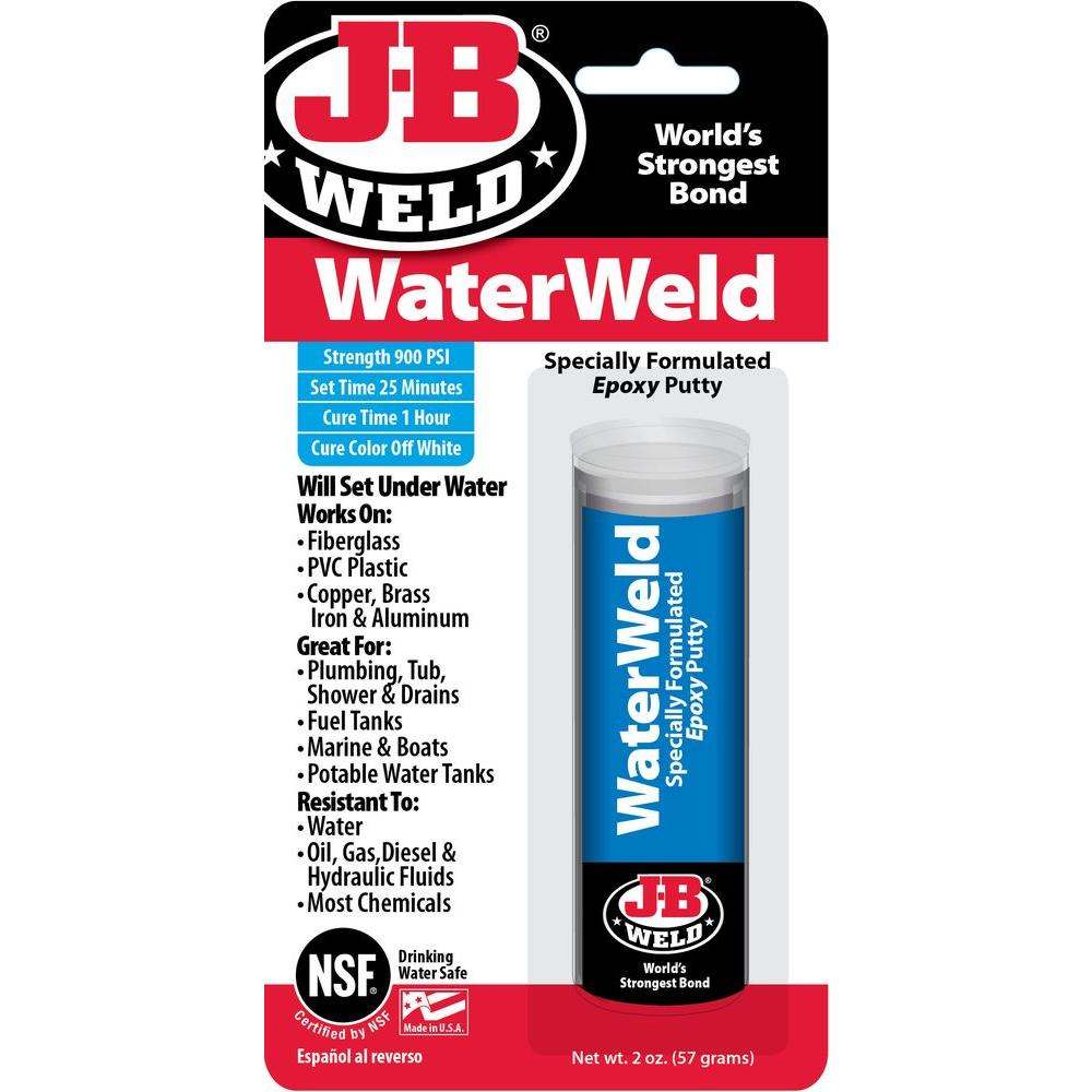 J-B Weld 2 oz Waterweld-8277 - The Home Depot