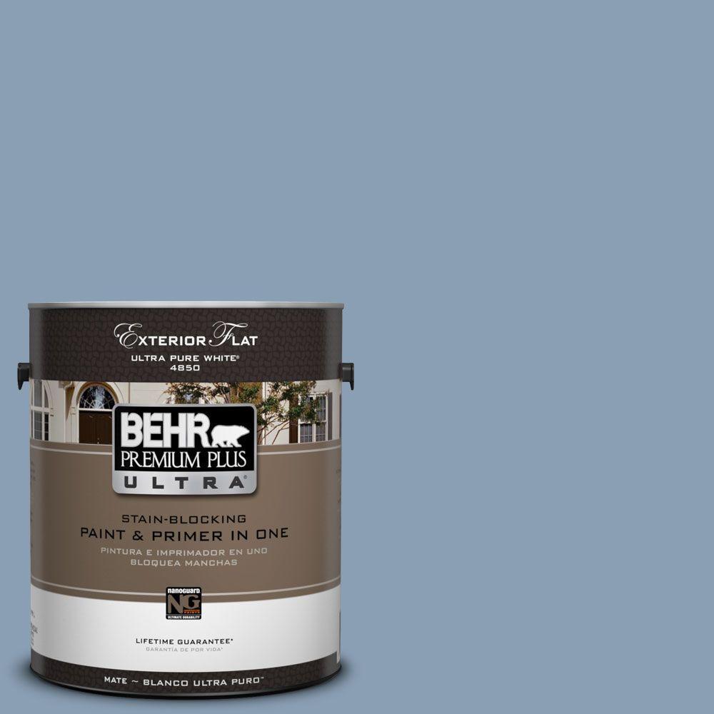 BEHR Premium Plus Ultra 1-Gal. #UL240-17 China Silk Flat Exterior Paint